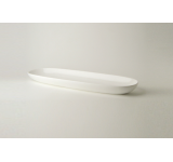 Set 4 Platouri pentru paine White Basics Garlic Bread Alb, Portelan, 35 cm