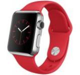 Smartwatch Apple Watch Sport MLLD2, Retina Display, Bluetooth, Wi-Fi, Bratara Silicon Sport 38mm, Carcasa din otel inoxidabil, Rezistent la apa si praf (Rosu)