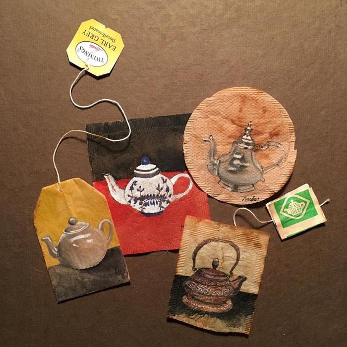 Pictura pe saculeti de ceai, de Ruby Silvious - Poza 5