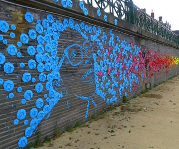Arta urbana cu origami, la Angers, Franta