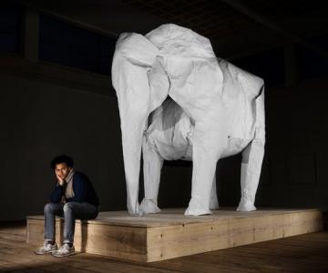 Elefant-origami, dintr-o singura coala de hartie