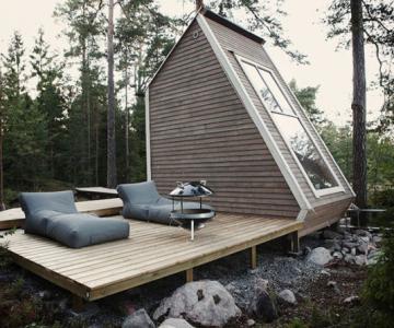 Cabana de 9 mp, in inima padurii finlandeze