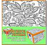 Collapsible Storage Box - Adult Colouring Botanical Patterns