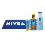 Set pentru protectie solara Nivea Sun Couple Pack: Ulei spray de corp Protect&Bronze SPF 20, 200 ml + Crema de fata Protect&Bronze SPF 50, 50 ml + Lotiune reparatoare dupa plaja, 200 ml + Prosop de plaja