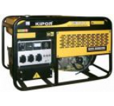 Generator Curent Electric Kipor KGE 12 E, 9.5 kVA, Motor 2 cilindrii in V, 4 timpi, racire cu aer, cadru deschis, Benzina, Autonomie 5 ore