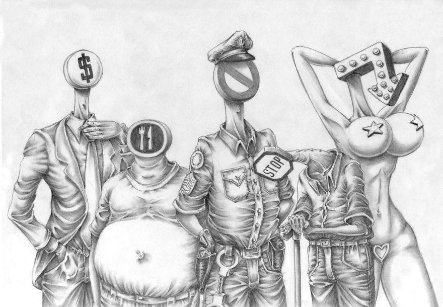 Problemele societatii actuale, in ilustratii rascolitor de sincere - Poza 26