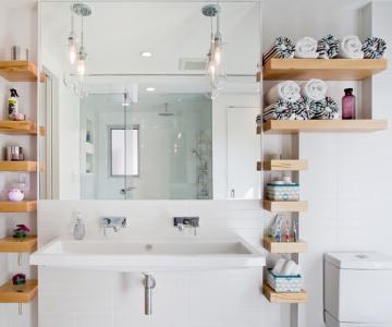 Idei de economisire a spatiului din baie