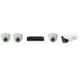 Kit de supraveghere DVR HD e-Sol CVI 4 Canale Video, 3 X Camere e-Sol CVI 720P - IR 30M, Lentila Variofocala (2.8-12) + 1 X Camera e- Sol CVI 720P IR 40M, Lentila Variofocala (2.8-12)