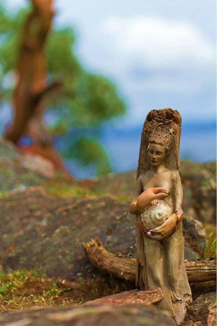 Spiritele naturii: Sculpturi himerice gingase - Poza 5