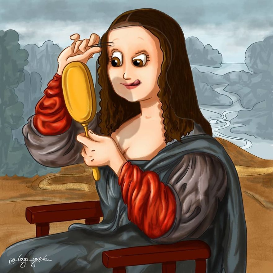 Detaliile ascunse ale picturilor celebre, in ilustratii haioase - Poza 12