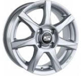 Janta Aliaj MSW 77 Full Silver, 7.5x17, 5x120, ET32 pentru BMW