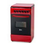 Aragaz LDK 5060 ECAI Red NG, Aprindere electrica, 4 Arzatoare, 50cm, Rosu