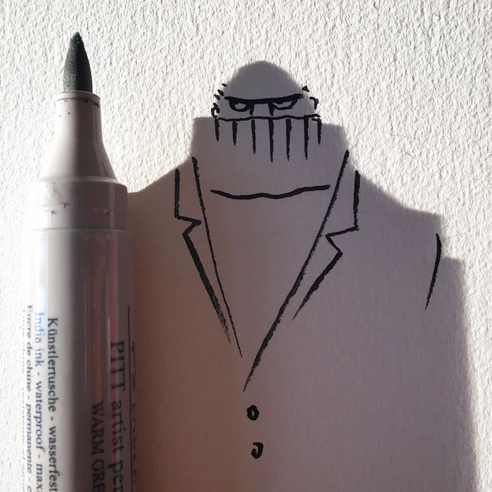 15+ Ilustratii haioase cu umbre - Poza 13