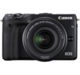 Aparat Foto Mirrorless Canon EOS M3 View Finder, EF-M 18-55, 24 MP, Filmare Full HD (Negru)