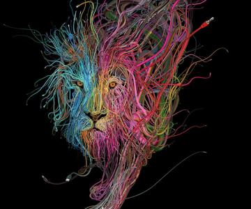 Ilustratii complexe din cabluri, de Charis Tsevis