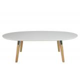 Masa de cafea Belina White/Oak, L135xl75xh42,3 cm