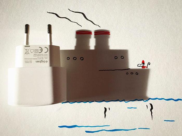 15+ Ilustratii haioase cu umbre - Poza 19