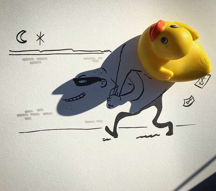 15+ Ilustratii haioase cu umbre - Poza 6