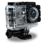Camera Video de Actiune Evolio iSmart, Full HD 1080P, 12 MP, Wi-Fi, Carcasa waterproof inclusa (Argintie/Neagra)