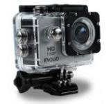 Camera Video de Actiune Evolio iSmart, Full HD 1080P, 12 MP, Wi-Fi, Carcasa waterproof inclusa (Argintie/Neagra)