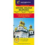 Harta rutiera - Ucraina Moldova Belorusia