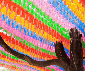 Lampioane colorate in Coreea, de ziua lui Buddha