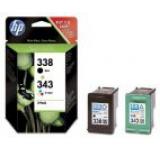Cartuse cerneala HP 338 / 343 (Negru / Color)