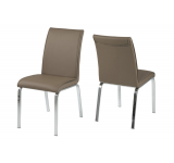 Set 4 scaune din metal Leonora-B Cappucino