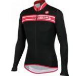Tricou cu maneca lunga pentru ciclism Castelli Prologo 3 LS, Barbati, Masura M (Negru/Rosu)