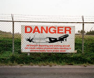Avioane peste plaja Maho, St. Martin, Caraibe