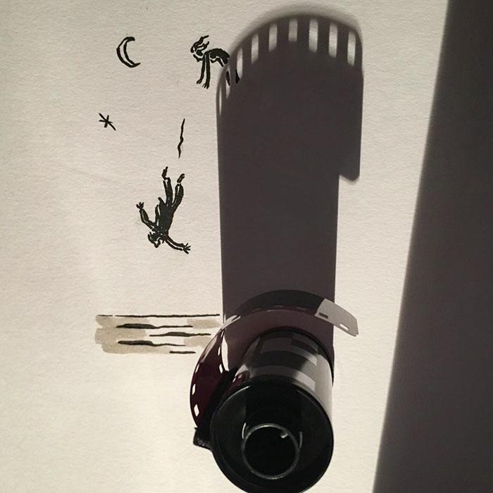 15+ Ilustratii haioase cu umbre - Poza 10