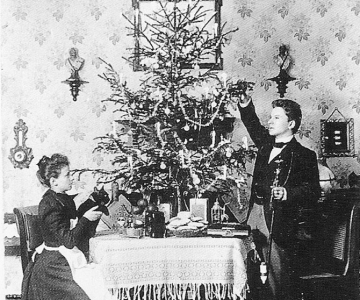 40 de Craciunuri in fotografii cu Anna si Richard Wagner