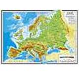Europa- harta fizico-administrativa plastifiata A4