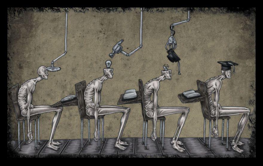 Problemele societatii actuale, in ilustratii rascolitor de sincere - Poza 1