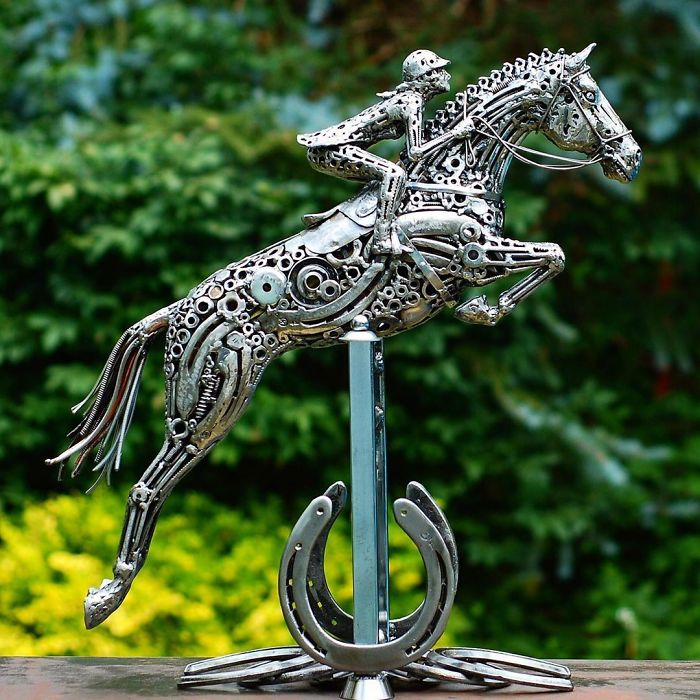 Sculpturi impresionante din bucati de metal vechi - Poza 9