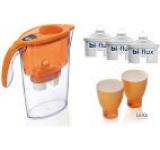 Cana filtrare apa Laica J947O Orange + 3 filtre + 2 pahare colorate