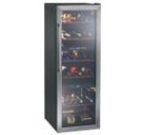 Vitrina frigorifica Hoover HWC2536DL, 6 rafturi, 230l, 70 sticle (Negru)