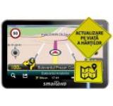 """Sistem de navigatie Smailo HD 4.3, Ecran 4.3"""" TFT LCD, Procesor 800 MHz, 128MB RAM, 8GB Flash, Microsoft Windows CE 6.0, Actualizari pe viata a hartilor, Harta Full Europa"""