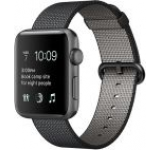 Smartwatch Apple Watch 2, Retina OLED Capacitive touchscreen 1.5inch, Bluetooth, Wi-Fi, Bratara Sintetic 38mm, Carcasa Aluminiu, Rezistent la apa si praf (Negru)