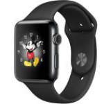 Smartwatch Apple Watch 2 Sport, Retina OLED Capacitive touchscreen 1.5inch, Bluetooth, Wi-Fi, Bratara Silicon 38mm, Carcasa Aluminiu, Rezistent la apa si praf (Negru)