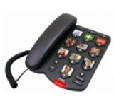 Telefon Fix Fysic FX3200, butoane cu poza (Negru)