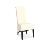 Scaun din lemn tapitat cu piele ecologica Donadoni crem ( S )