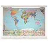 Lumea harta politica/harta fizico-geografica (sipci de lemn)