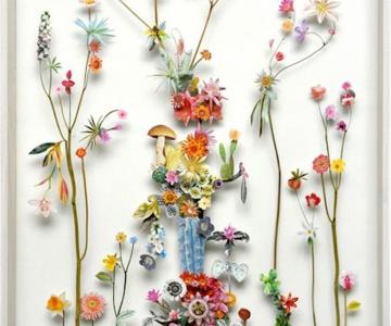 Constructii din flori reciclate de Anne ten Donkelaar