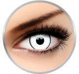 MaxVue Vision Crazy White Zombie - lentile de contact colorate albe anuale - 360 purtari (2 lentile/cutie)