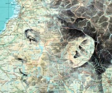 11 Chipuri umane realizate din harti vechi