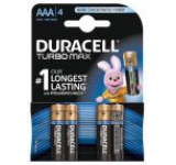 Baterie Duracell Turbo Max AAA LR03, 4buc
