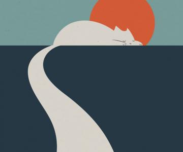 10 Ilustratii minimaliste pentru iubitorii de arta si pisici