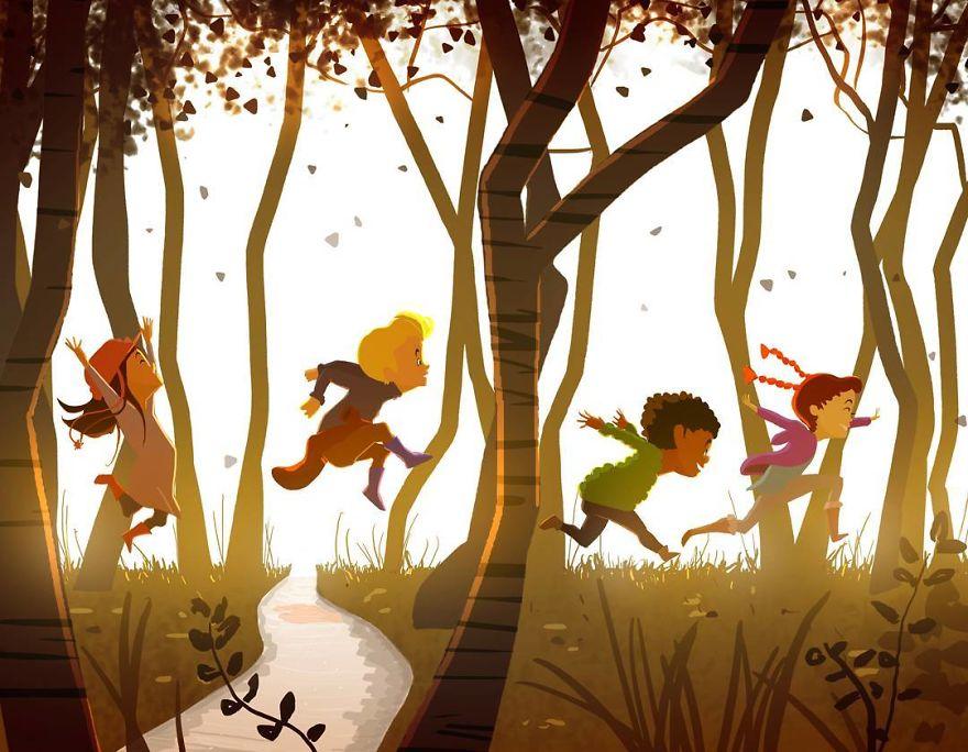 Cele mai frumoase clipe ale copilariei, in ilustratii nostalgice - Poza 7