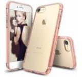 Protectie spate Ringke Fusion 154186 pentru Apple iPhone 7 (Transparent/Rose Gold)